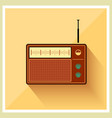 Retro Background Radio Receiver Tuner vector image