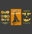 set happy halloween greeting card vector image vector image