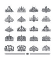 set of crowns colorless banner vector image