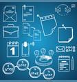 set social media business finance vector image