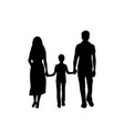 silhouettes father mother and son from back vector image vector image