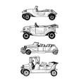 sketch retro car vector image