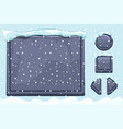 snow covered stone assets and buttons for ui game vector image