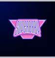 sport emblem typography super baby hero logotype vector image