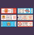 sport tickets baseball american football soccer vector image