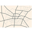 streets on the city map - scheme vector image vector image