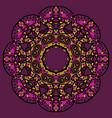 stylized flower mandala like oriental design