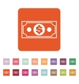 The money icon Dollar symbol Flat vector image