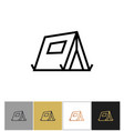 tourist tent icon outdoor camping tent sign vector image