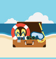travel to beach summer elements flat design vector image