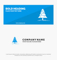tree forest christmas xmas solid icon website vector image