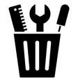 Tuning Bucket Flat Icon vector image vector image