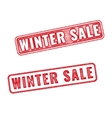 Two red realistic Winter sale stamps vector image