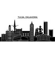 usa tulsa oklahoma architecture city vector image