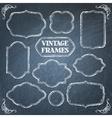 Vintage chalkboard frames set vector image vector image