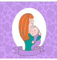 woman with a child vector image