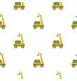 yellow cherry picker pattern flat vector image vector image