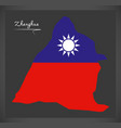 zhanghua taiwan map with taiwanese national flag vector image vector image