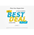 Banner Best Deal on grey vector image