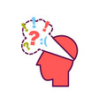 head with negative thoughts vector image