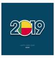 2019 benin typography happy new year background vector image vector image