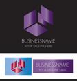 abstract box finance logo vector image vector image