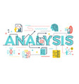 analysis word lettering vector image vector image