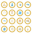 architecture set icon circle vector image vector image