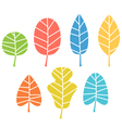 Autumn leaves collection isolated on white vector image vector image