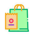 bag and receipt icon outline vector image vector image