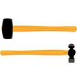 Ball Pein and Sledgehammer vector image vector image