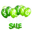 balloons spring sale vector image vector image
