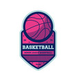 basketball minor league vintage isolated label vector image vector image