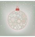 beautiful christmas ball card eps 8 vector image vector image