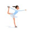 beautiful figure skater girl in short blue dress vector image vector image