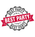 best party stamp sign seal vector image vector image