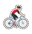 bike or bicycle icon image vector image