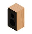 black acoustic speaker loudspeaker isolated on vector image
