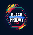 black friday big sale 2017 text in hexagon frame vector image vector image