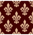 Brown and beige lilies seamless pattern vector image vector image