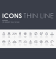 buddhism thin line icons vector image