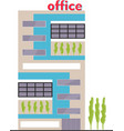 business building facade office building exterior vector image vector image