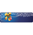 Christmas banner with copy-space vector image vector image