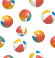 Colorful Beach balls Seamless Pattern vector image vector image