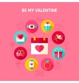 Concept Be My Valentine vector image vector image