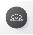 customers icon symbol premium quality isolated vector image