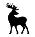 deer icon isolated on white background vector image vector image