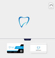 dental icon logo template free business card vector image vector image