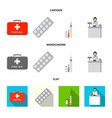 design of pharmacy and hospital logo set vector image