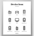 device icons line pack vector image